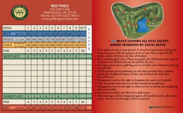 Red Pines Scorecard