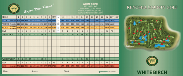 White Birch Scorecard